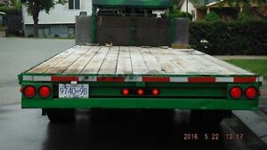 Flat Deck 5th wheel Tri-axle Prince George British Columbia image 5