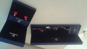 Swarovski bracelet and earrings for sale