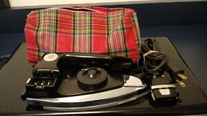 TRAVEL IRON WITH PLAID CASE CHARLESCRAFT
