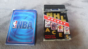 2 decks of sports playing cards NBA2007/NHL1995(used)