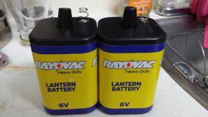 Lantern Batteries x2