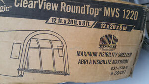 12 x 20 x 8 Shelter Logic Storage Shed. Dome Top