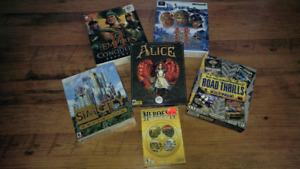 Lot de jeux vintage pour ordinateur pc