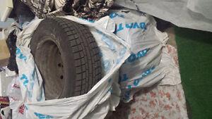 4 Tires with rims: Yokohama Iceguard 205/70R15 West Island Greater Montréal image 5