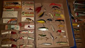 vintage fishing lures old baits & boxes antique
