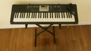 Casio digital piano LK-170 with stand
