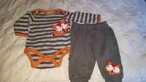 Fox outfit size 6months eeuc