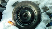 """2014 ford fusion 16"""" steel rims with tire 215/60R16"""