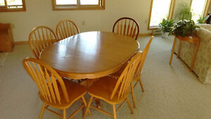 Oak Dining Table with Chairs