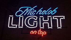 Michelob Light On Tap Neon Beer Bar Sign For Sale