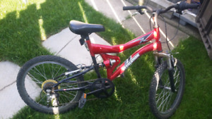 "Red 20"" Revolution 6-Speed Bike with Dual Shocks - $45"