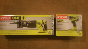 Ryobi 18v Brushless Impact Driver and Reciprocating Saw