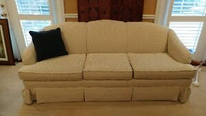 New price 3 seater couch w matching wing back $200 or best offer