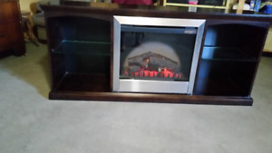 TV Stand with Fireplace