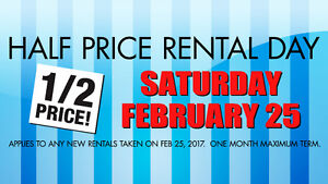 Half Price Rental Day at Long and McQuade