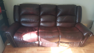 Leather Couch, Chair & 2 seater
