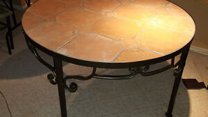 Beautiful Italian tile table with 4 chairs