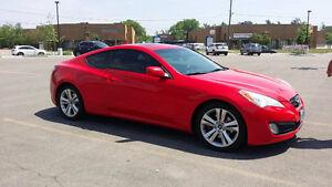 Hyundai Genesis Coupe Red Premium + Winter Tires GPS Rear Cam