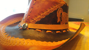 Handmade Mexican Leather Cowboy Hat