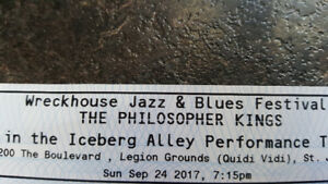 Wreckhouse kazz& bluez festival and THE PHILISOPHER KINGS
