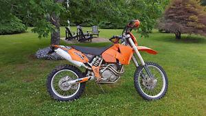 2003 ktm 525 exc Y plated