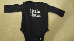 Baby girl clothing, size 3 months (one top, one outfit)