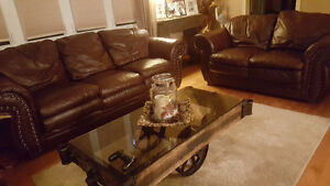 3 piece leather  couch set**SOLD