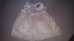 6 month gold sprakly dress excellent condition warn once