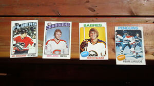 Vintage 1970's Hockey Rookie Cards Excellent Condition