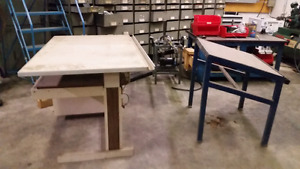 Drafting tables large and small