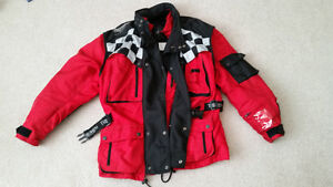 Triumph Motorcycle Jacket, padded, removable liner, High Quality
