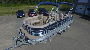 2013 South Bay pontoon 724 SL 115 Merc, full camper top, trailer