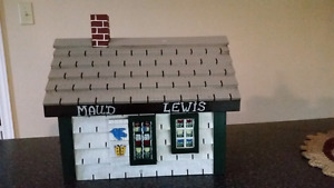 Hand crafter Maud Lewis painted bird house
