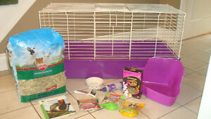 LARGE RABBIT CAGE WITH EXTRAS