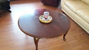 Cherry Coffee Table and matching End Table