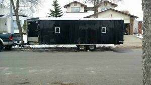2007 Cargo Mate Sled Trailer 26ft V Nose Snow Bird 4 Place