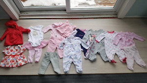 0-3 month babygirl clothes