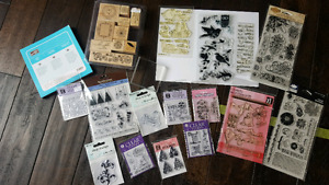 Wood mount and clear mount stamps!