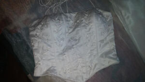 Two pieces bridal skirt and corset.