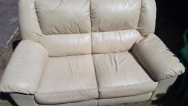 2 seater & reclining arm chair