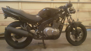 Perfect starter bike. 2004 gs500 naked lots of spare parts