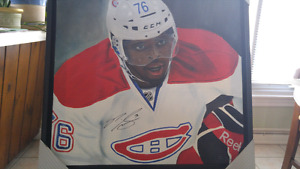 Oil Canvas Autographed P.K.Subban With Frame