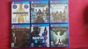Several PS4 games in good condition