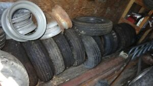 USED 8/14.5 MOBILE HOME TIRES AND RIMS
