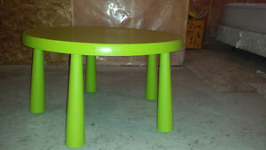 Ikea Kids Table - Green - In Excellent Condition ~ OKOTOKS
