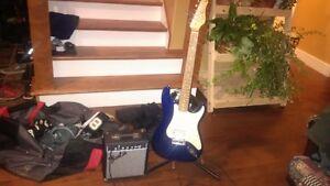 jr Electric Guitar & Fender Amp new price