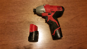 Milwaukee 12v impact and chargers