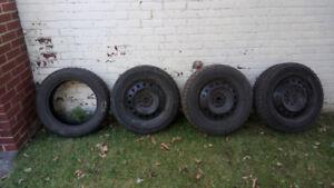 ensemble de 3 roues 16 pouces pour pontiac vibe + 4 pneus inclus