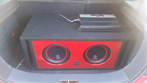 """2 10"""" DB DRIVE AND MTX 1800W AMP"""