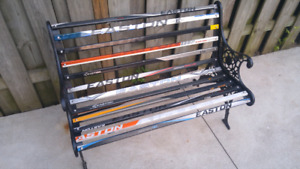 HOCKEY STICK IRON BENCH